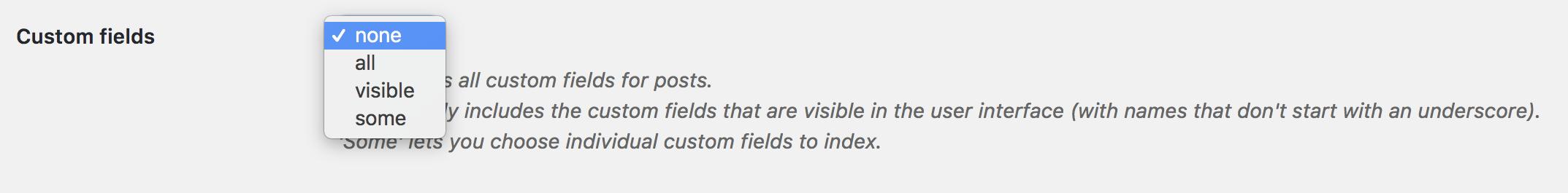 Search custom fields in WordPress